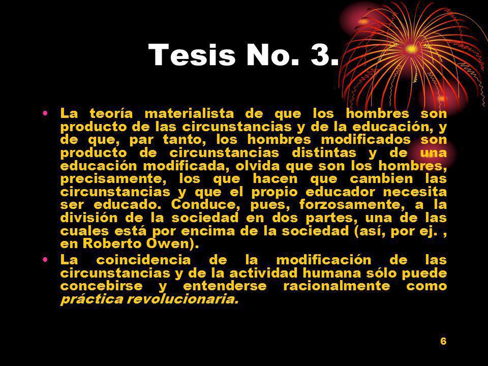 Tesis No. 3.