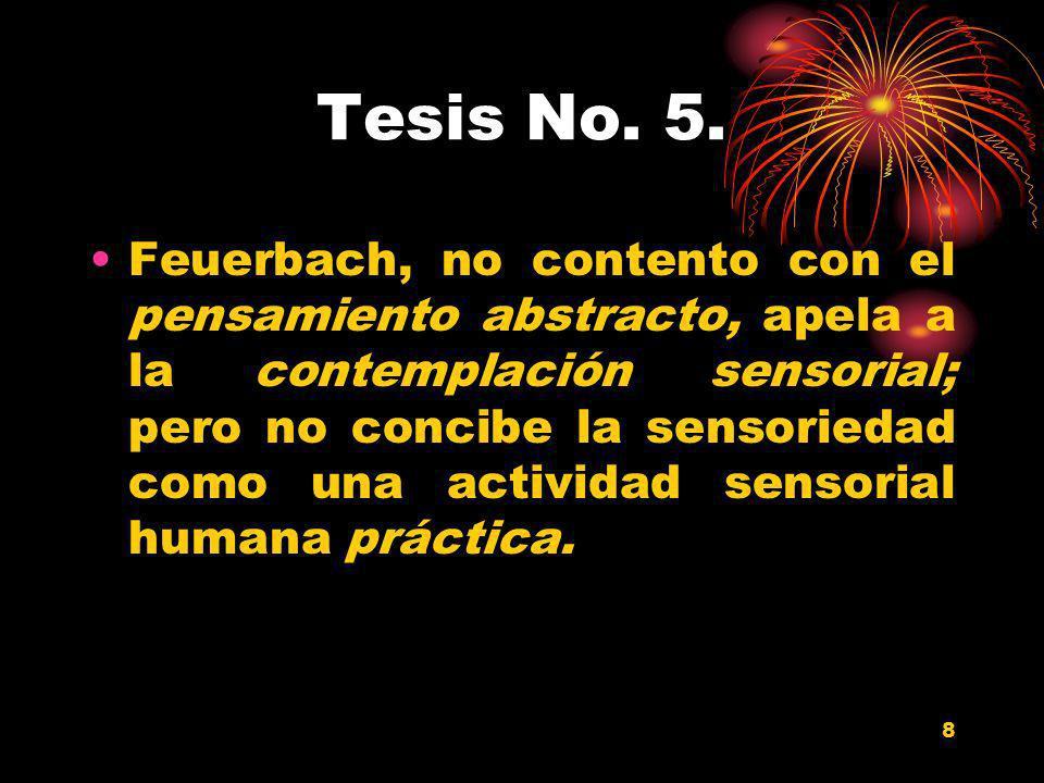Tesis No. 5.