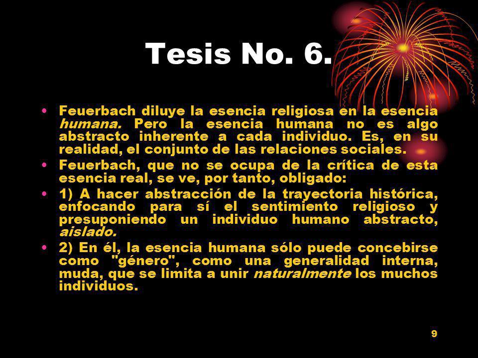 Tesis No. 6.