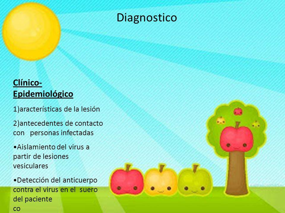 Diagnostico Clínico- Epidemiológico 1)aracterísticas de la lesión