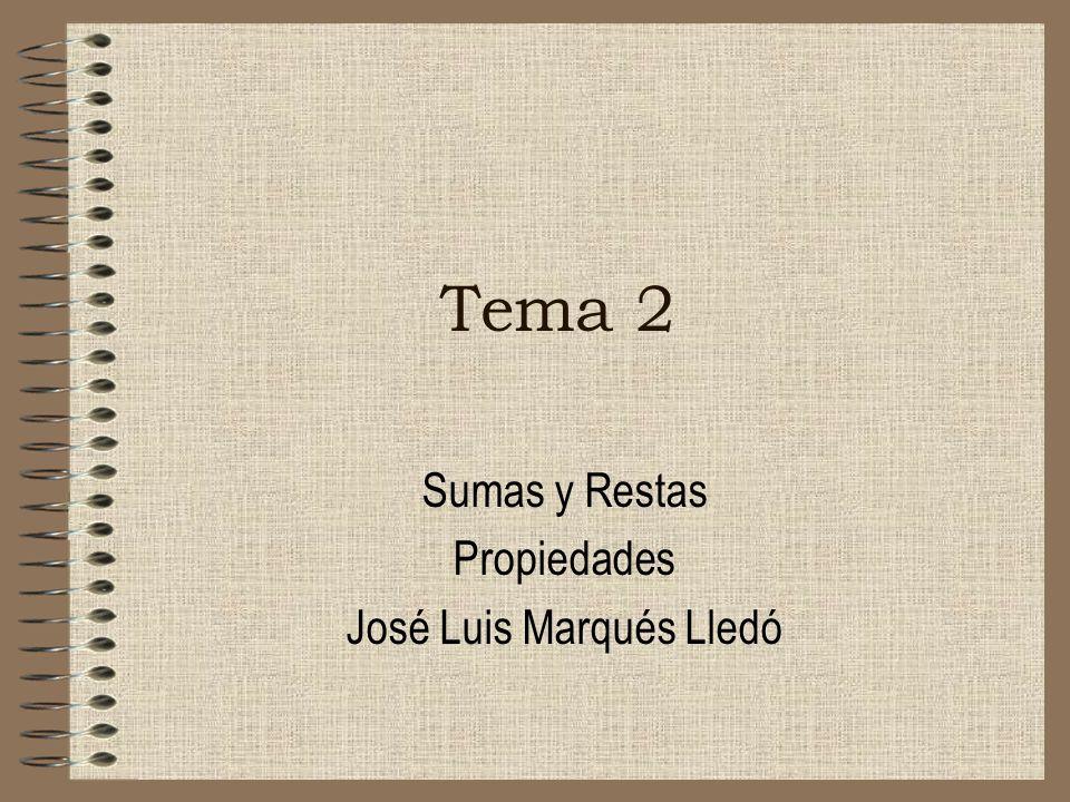 Sumas y Restas Propiedades José Luis Marqués Lledó