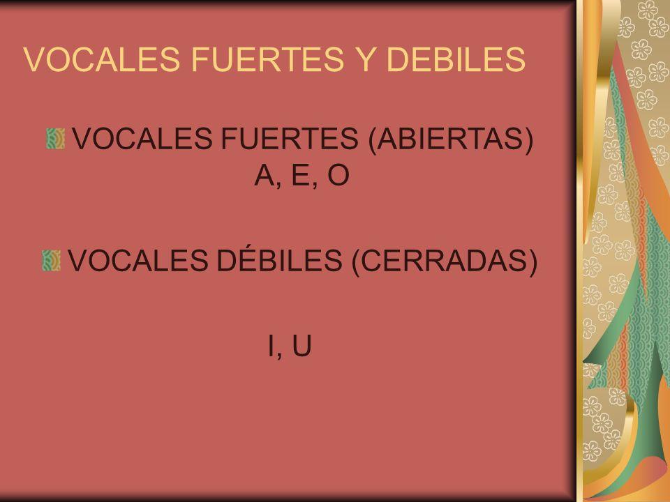 VOCALES FUERTES Y DEBILES
