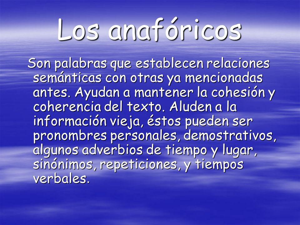 Los anafóricos