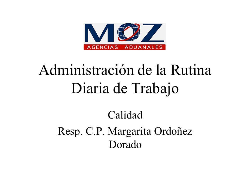 Administración de la Rutina Diaria de Trabajo