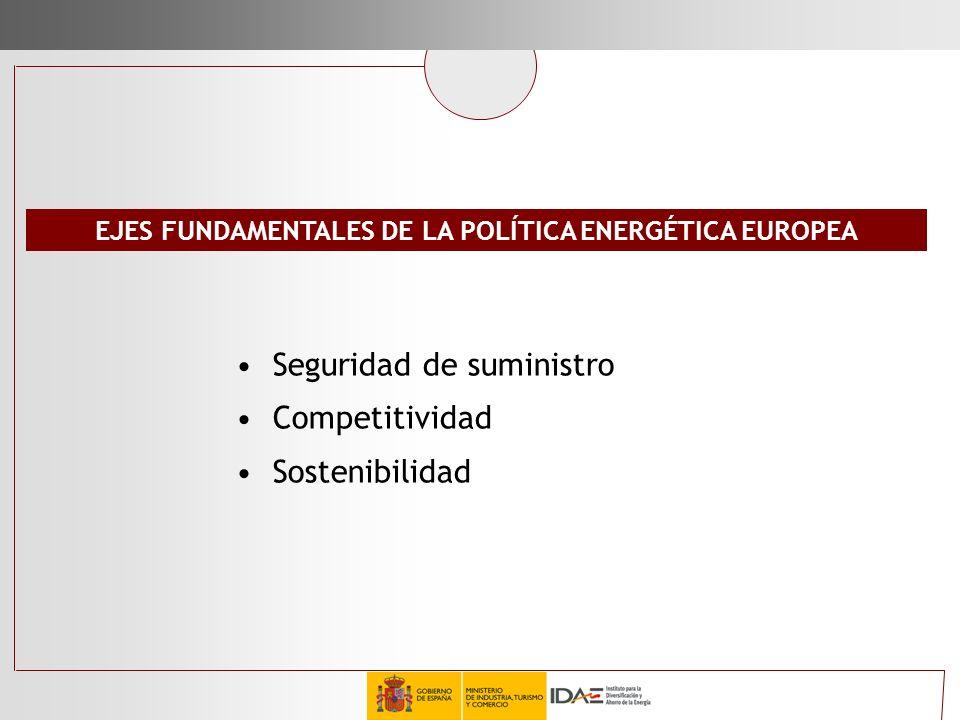 EJES FUNDAMENTALES DE LA POLÍTICA ENERGÉTICA EUROPEA