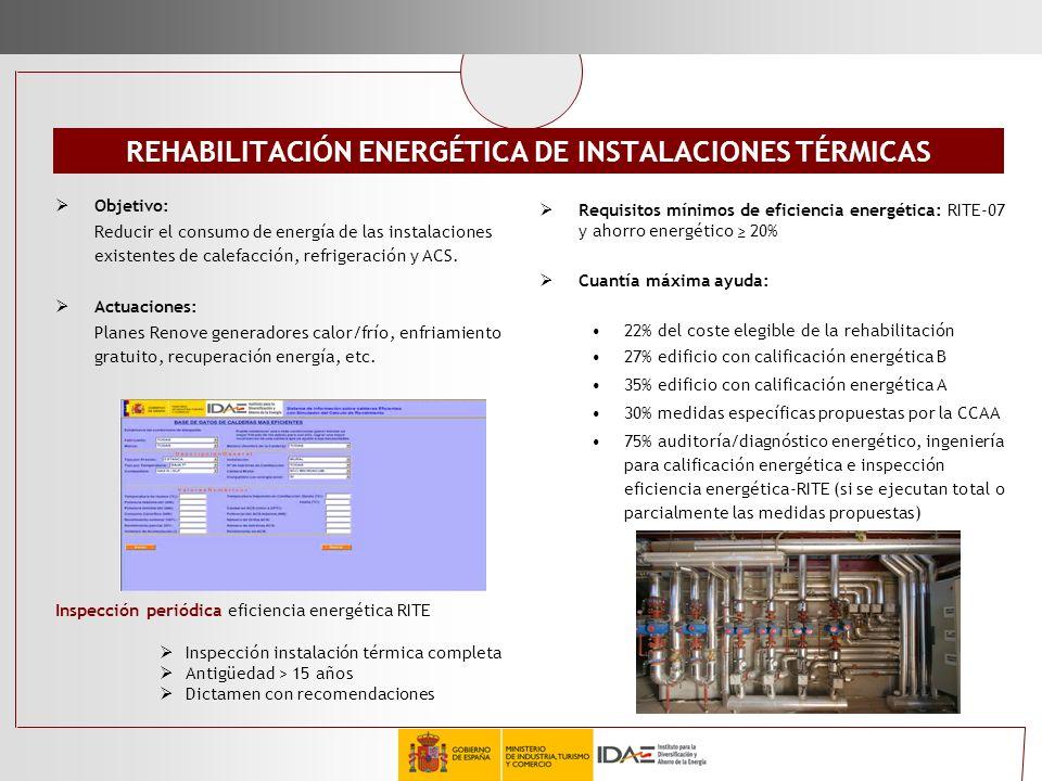REHABILITACIÓN ENERGÉTICA DE INSTALACIONES TÉRMICAS