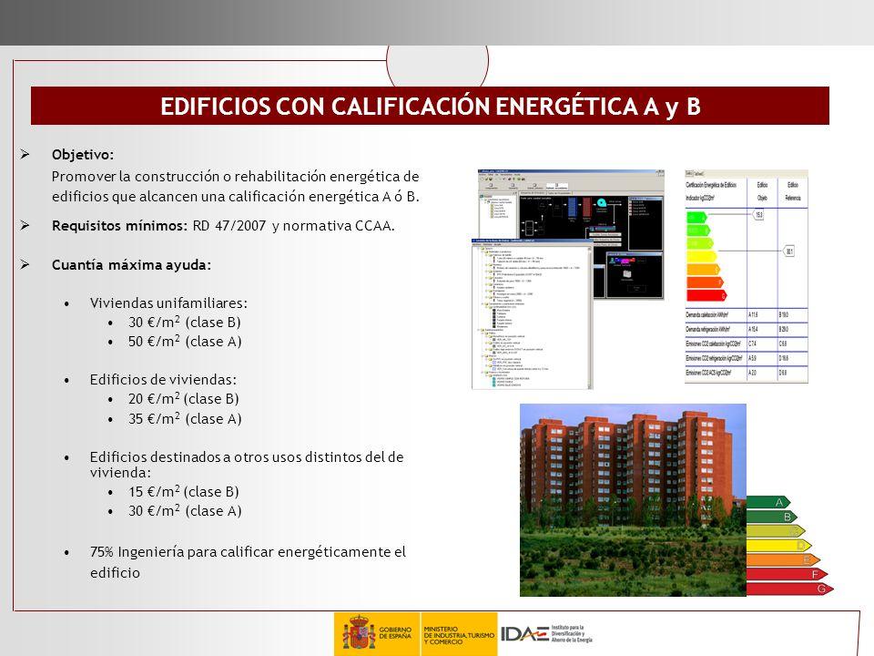 EDIFICIOS CON CALIFICACIÓN ENERGÉTICA A y B