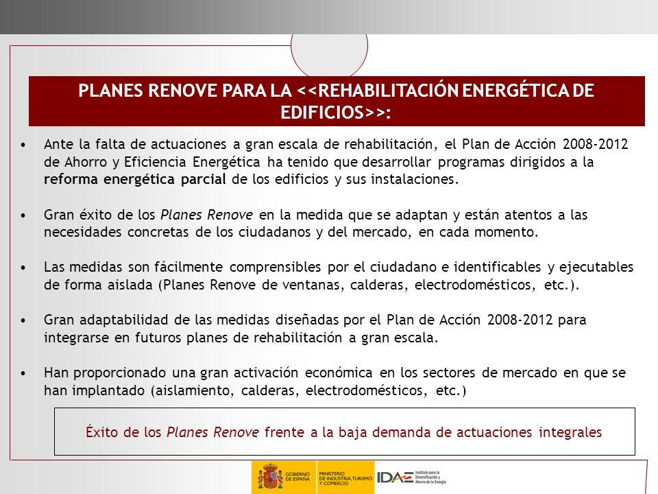 PLANES RENOVE PARA LA <<REHABILITACIÓN ENERGÉTICA DE EDIFICIOS>>: