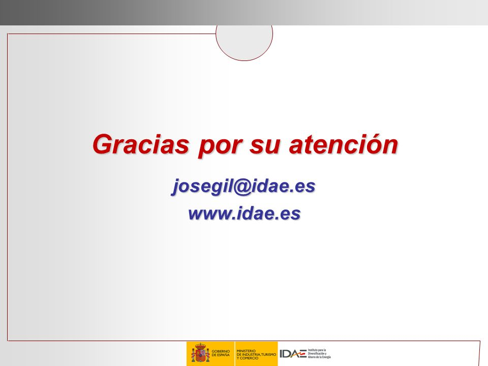Gracias por su atención josegil@idae.es www.idae.es