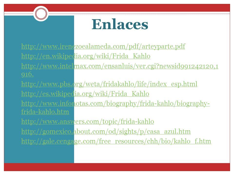 Enlaces http://www.irenezoealameda.com/pdf/arteyparte.pdf