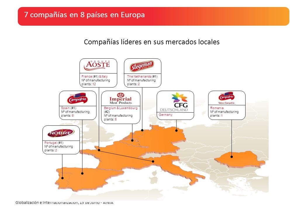 7 compañías en 8 países en Europa