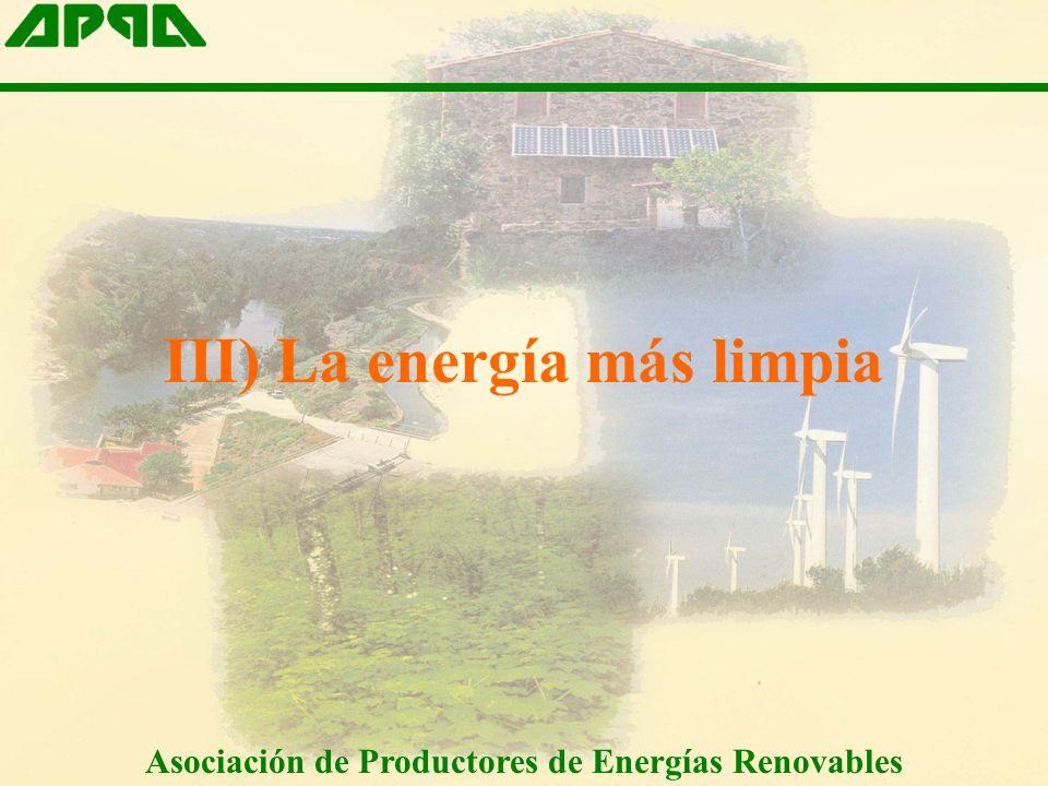 III) La energía más limpia