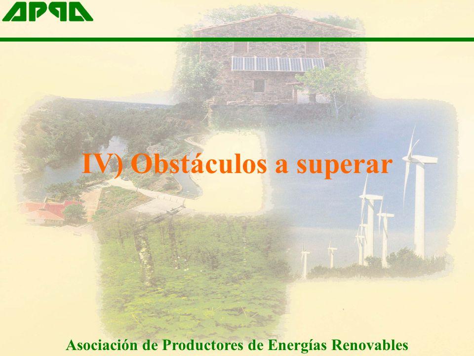 IV) Obstáculos a superar