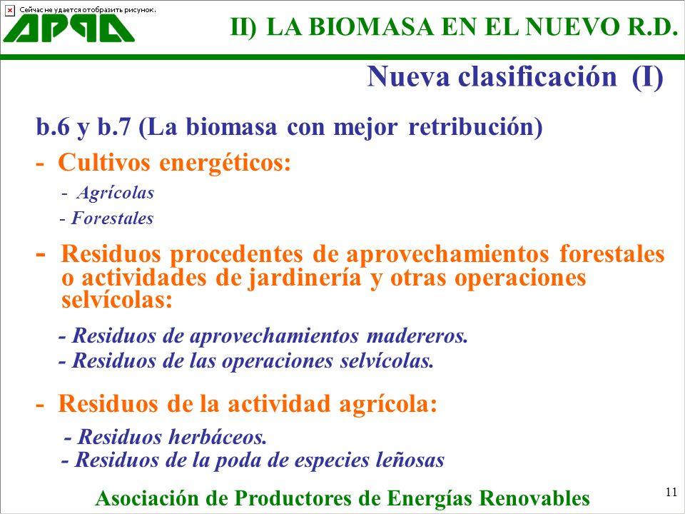 Nueva clasificación (I)