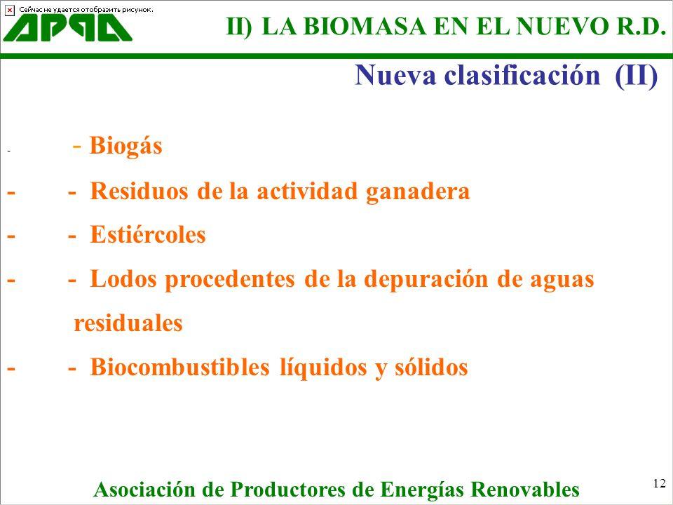 Nueva clasificación (II)