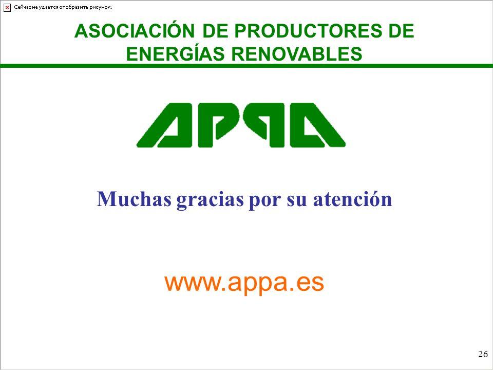www.appa.es Muchas gracias por su atención