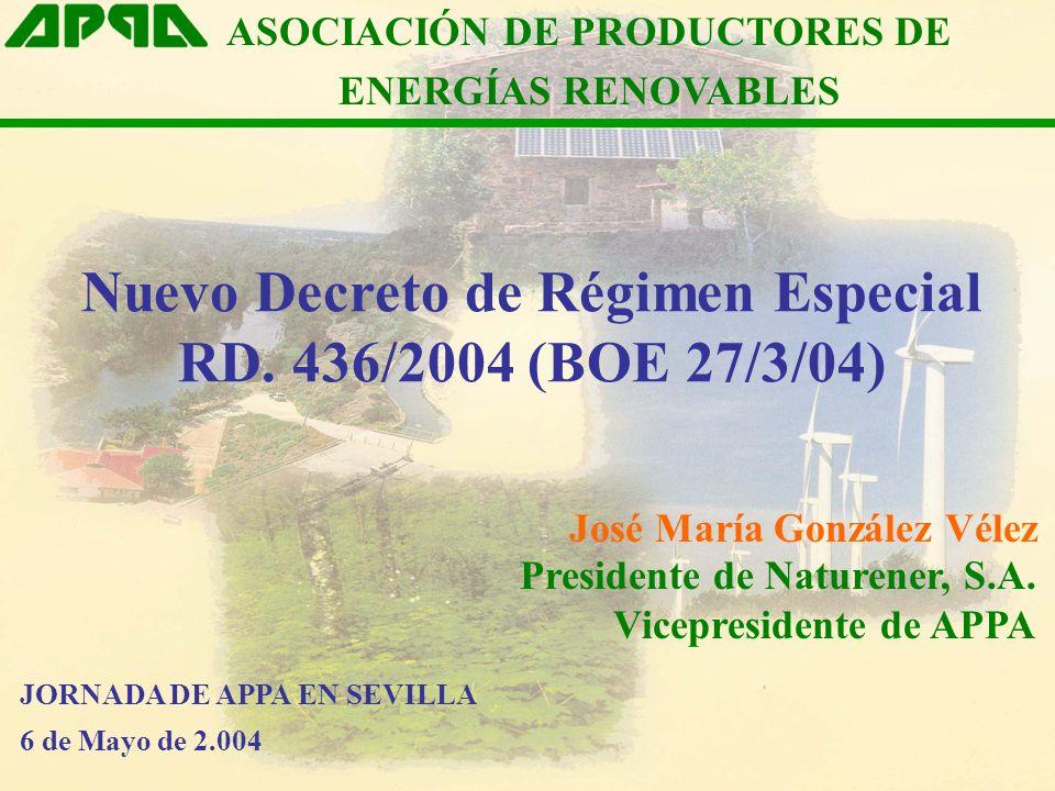ASOCIACIÓN DE PRODUCTORES DE Nuevo Decreto de Régimen Especial