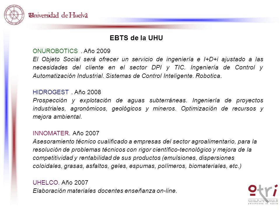 EBTS de la UHU ONUROBOTICS . Año 2009
