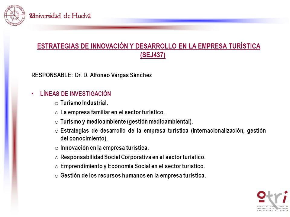 ESTRATEGIAS DE INNOVACIÓN Y DESARROLLO EN LA EMPRESA TURÍSTICA (SEJ437)