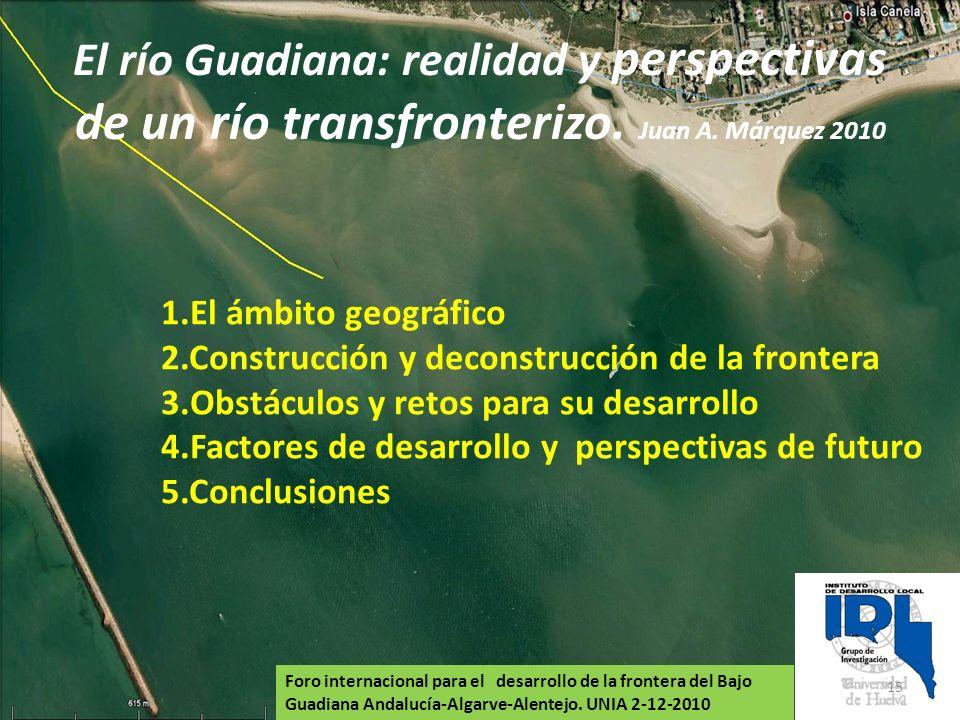 El río Guadiana: realidad y perspectivas de un río transfronterizo