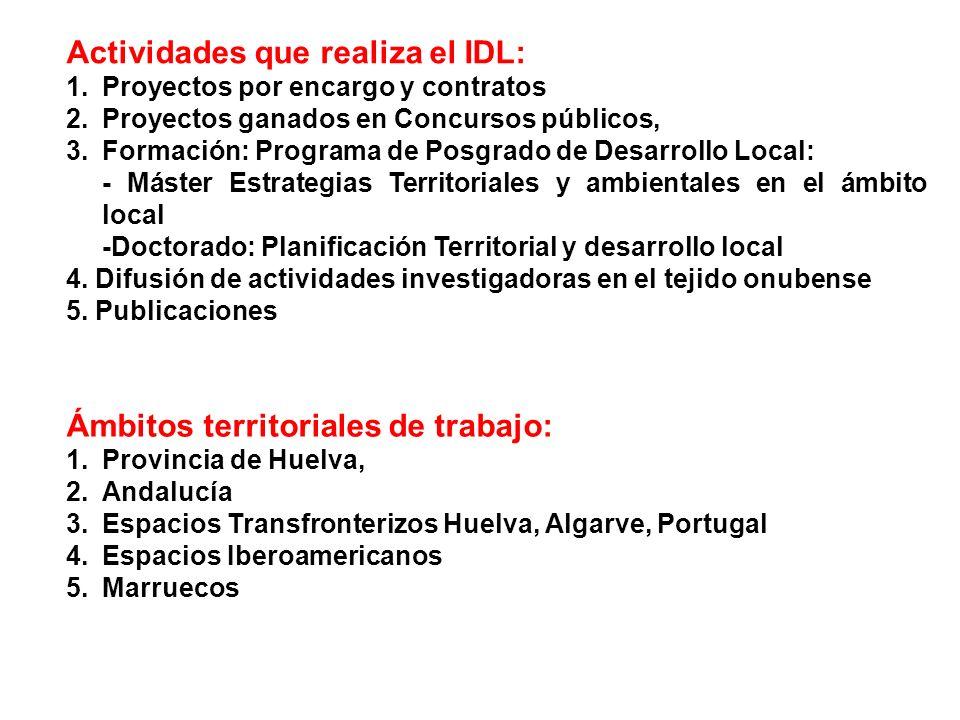 Actividades que realiza el IDL:
