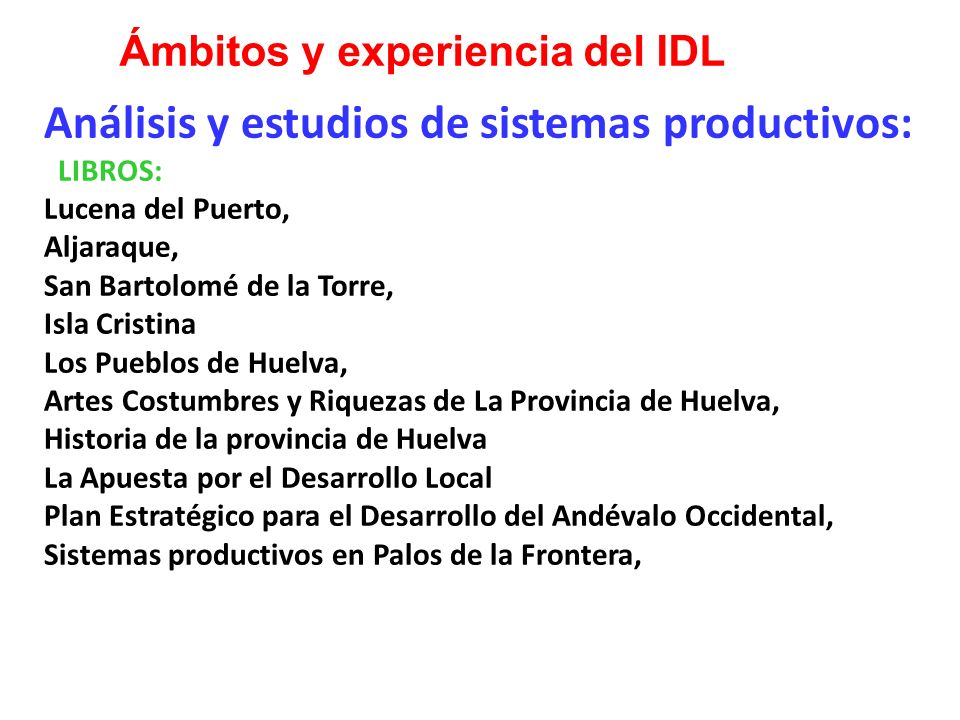 Análisis y estudios de sistemas productivos: