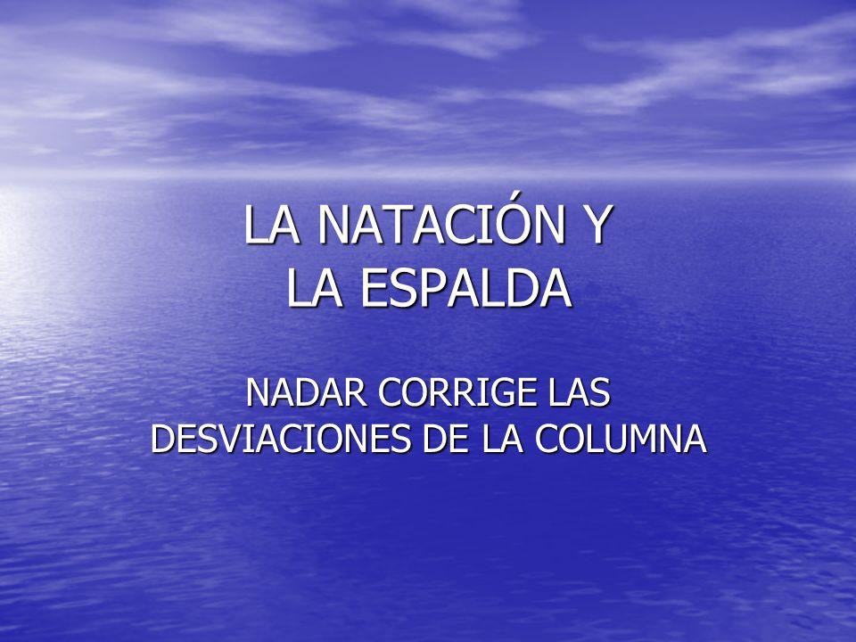 LA NATACIÓN Y LA ESPALDA