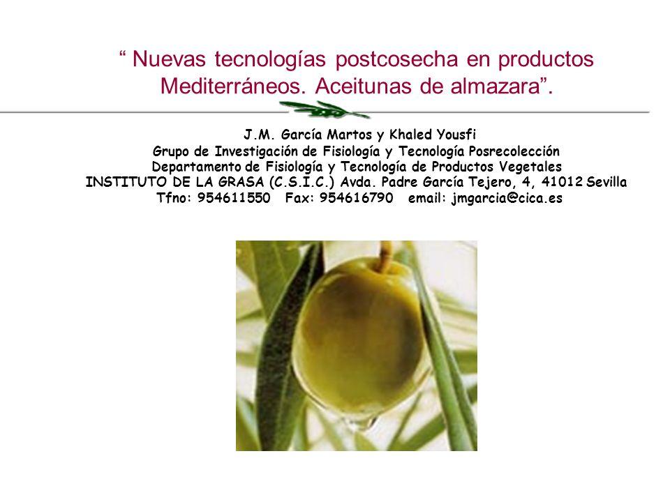 Nuevas tecnologías postcosecha en productos Mediterráneos