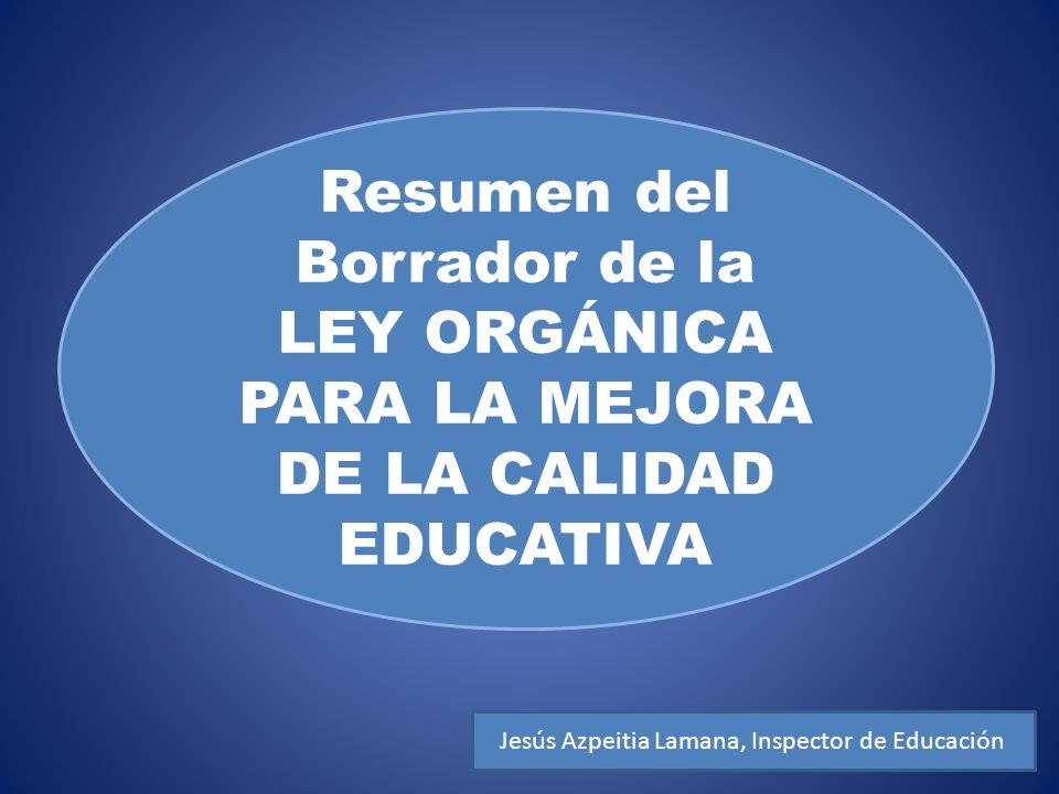 PARA LA MEJORA DE LA CALIDAD EDUCATIVA