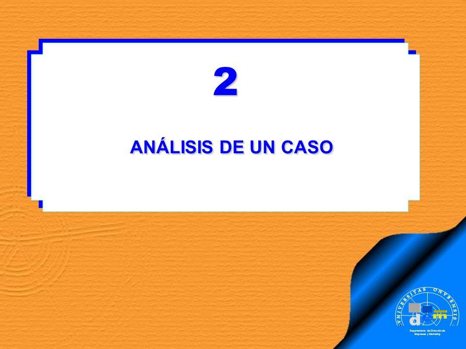 2 ANÁLISIS DE UN CASO . m d e VNIVERSITAS ONVBENSIS SAPERE AVDE