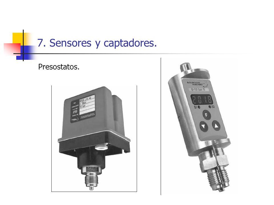 7. Sensores y captadores. Presostatos.