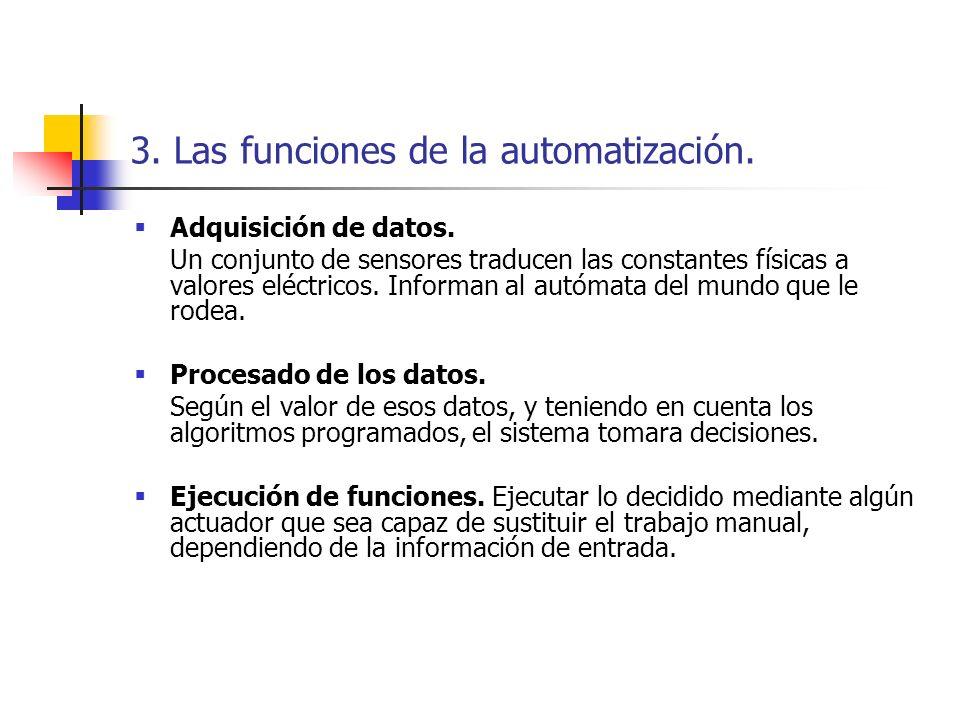 3. Las funciones de la automatización.