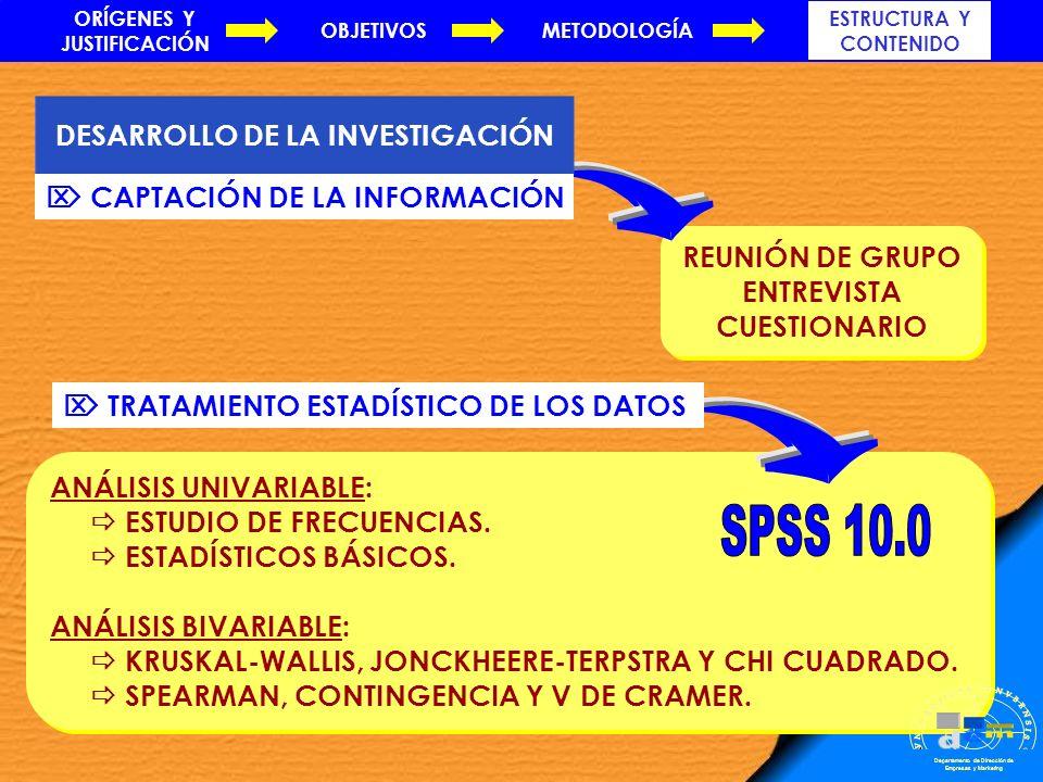 SPSS 10.0 . m d e VNIVERSITAS ONVBENSIS SAPERE AVDE