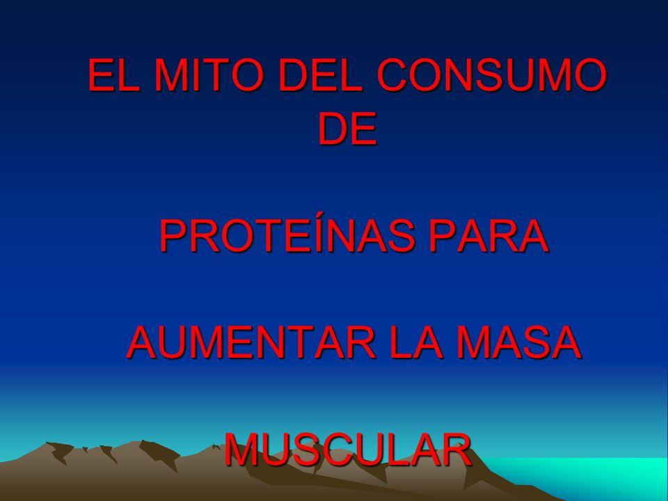 EL MITO DEL CONSUMO DE PROTEÍNAS PARA AUMENTAR LA MASA MUSCULAR