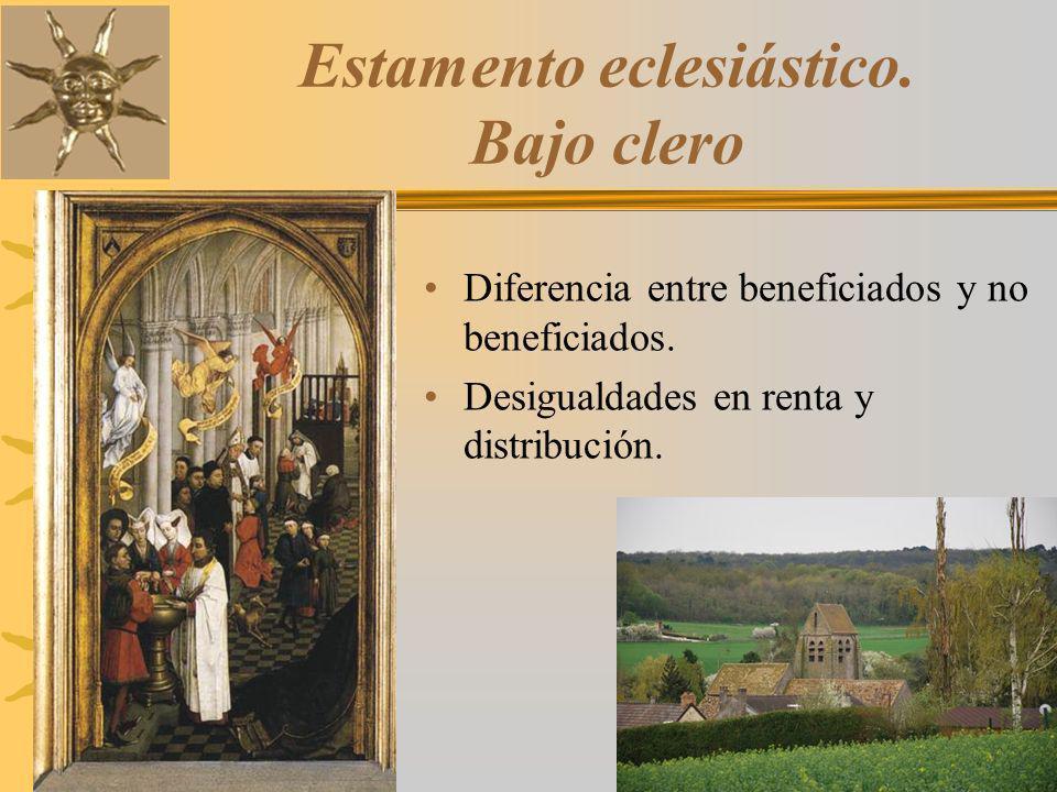 Estamento eclesiástico. Bajo clero