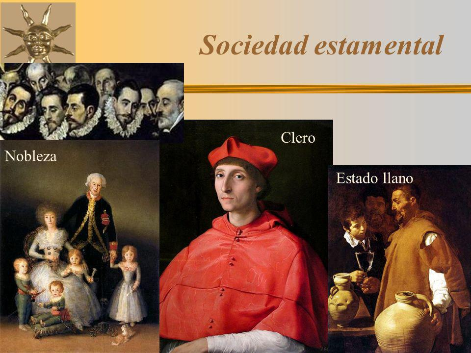Sociedad estamental Clero Nobleza Estado llano