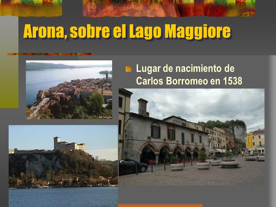 Arona, sobre el Lago Maggiore