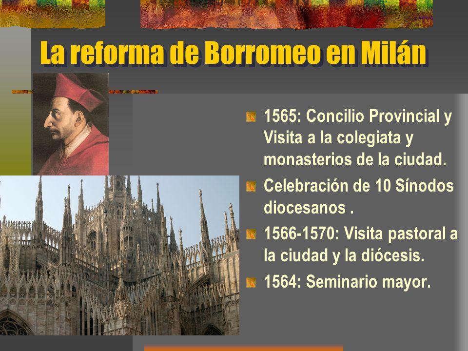 La reforma de Borromeo en Milán