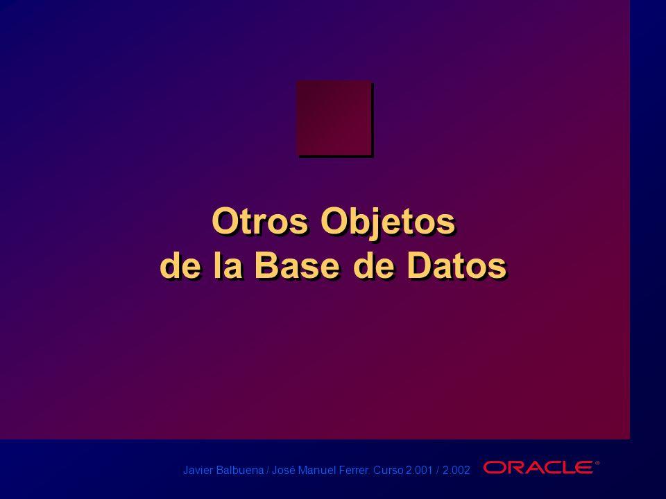 Otros Objetos de la Base de Datos