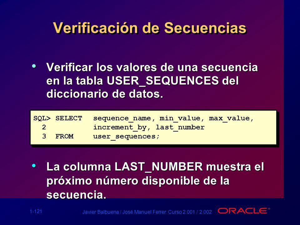 Verificación de Secuencias