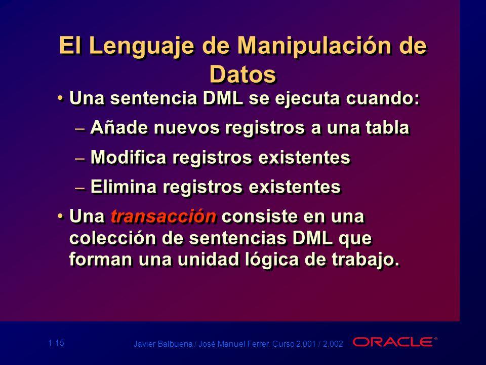 El Lenguaje de Manipulación de Datos