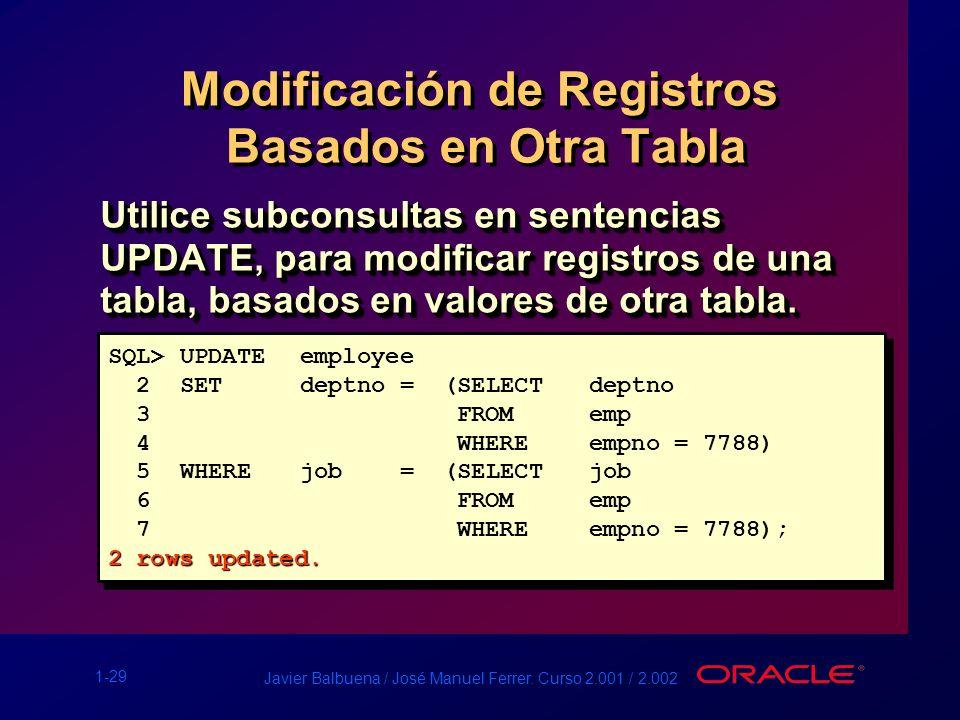 Modificación de Registros Basados en Otra Tabla