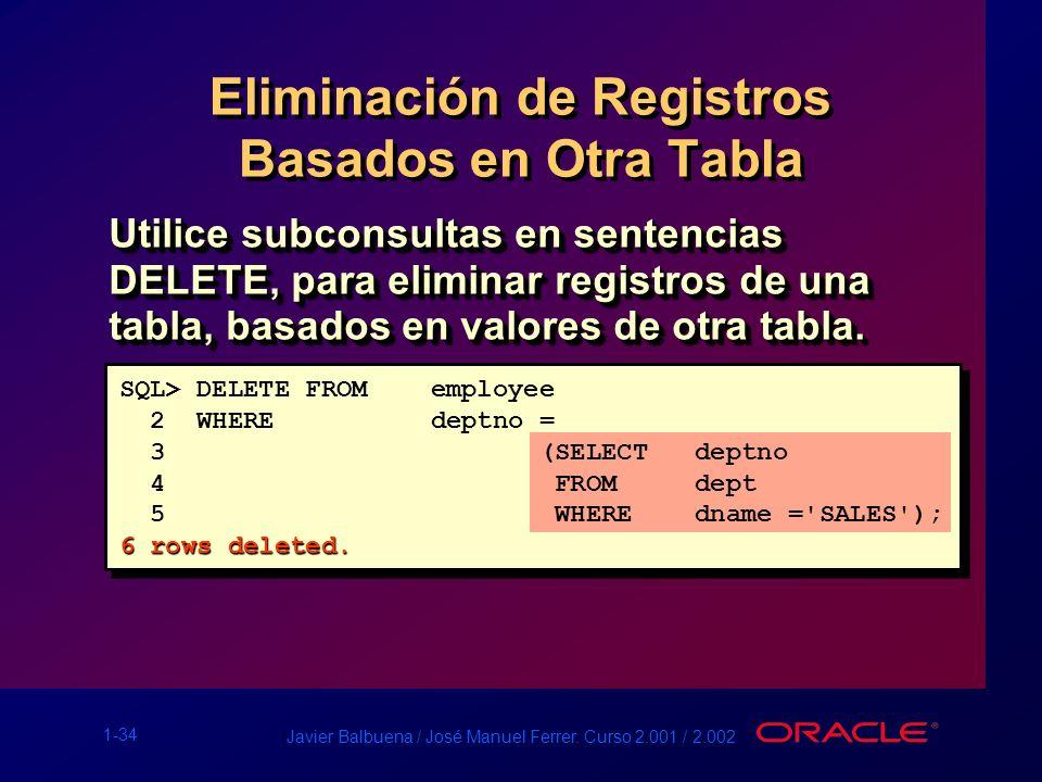 Eliminación de Registros Basados en Otra Tabla