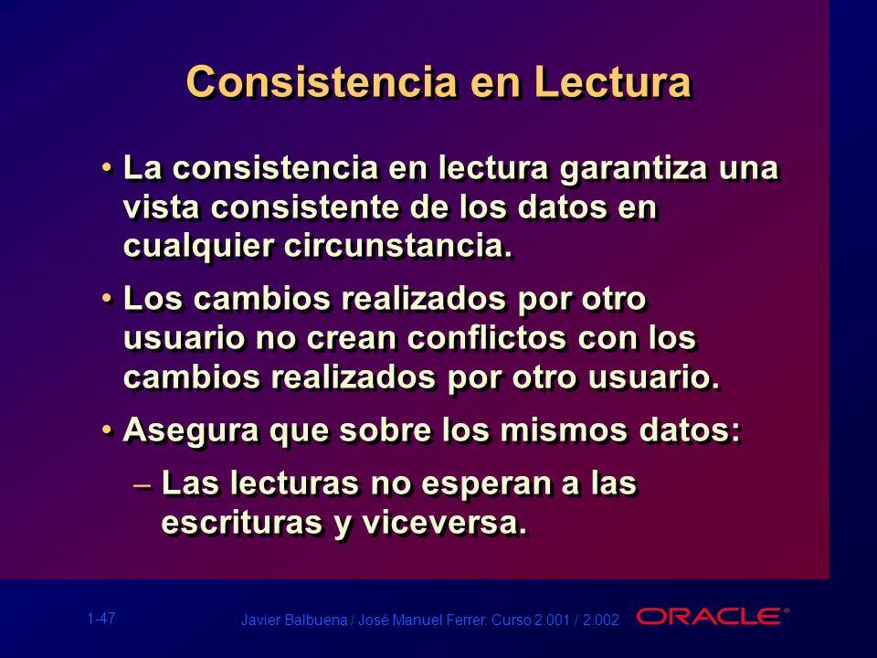 Consistencia en Lectura