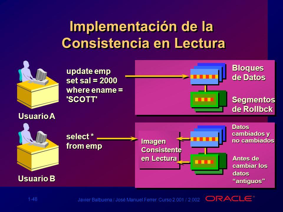 Implementación de la Consistencia en Lectura