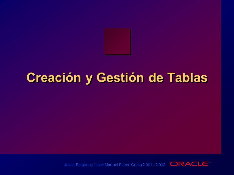 Creación y Gestión de Tablas