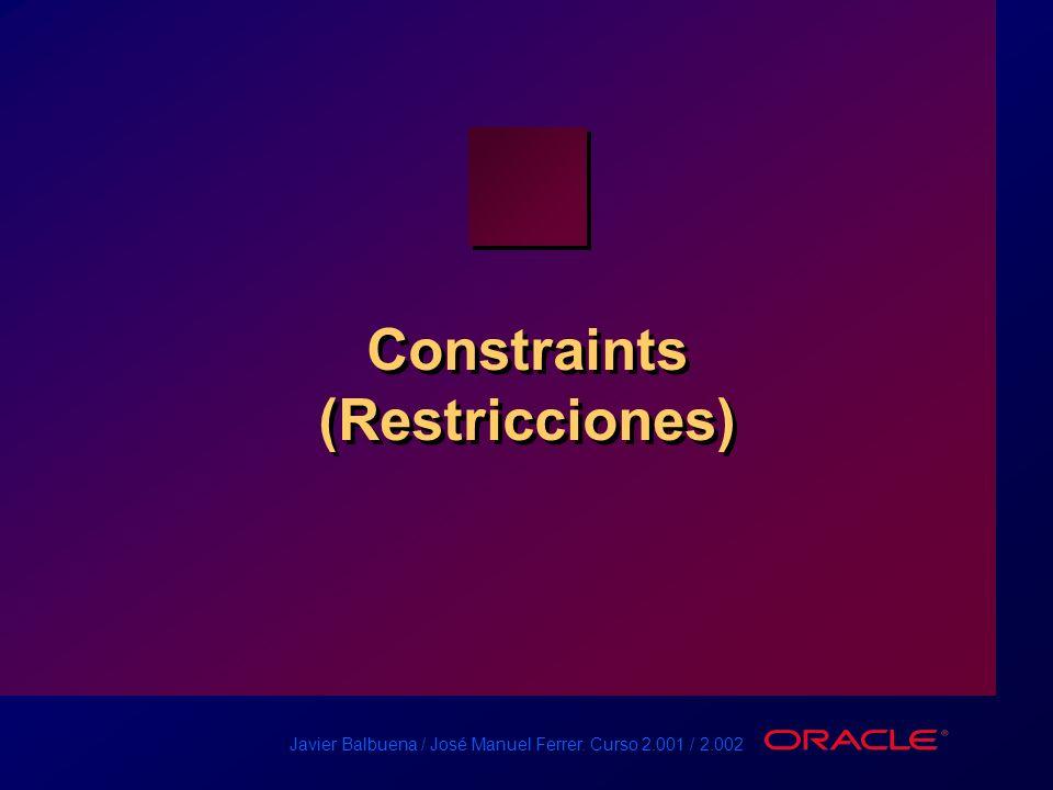 Constraints (Restricciones)