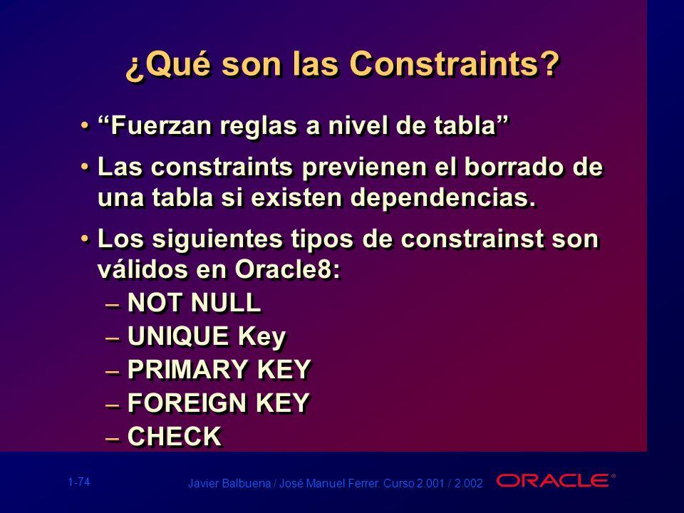 ¿Qué son las Constraints