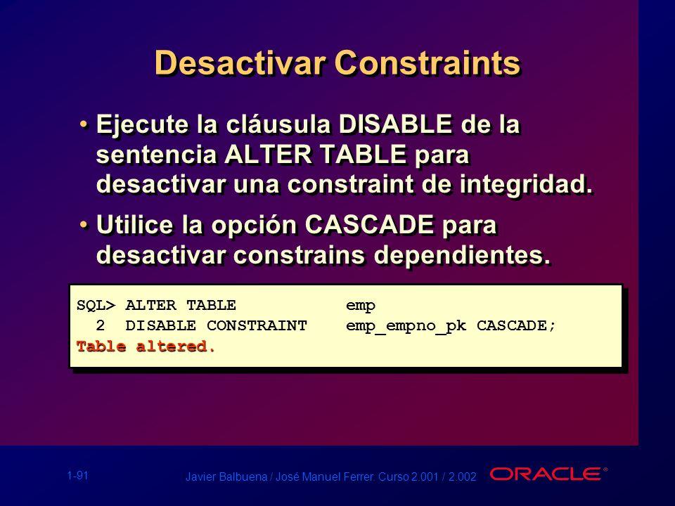 Desactivar Constraints