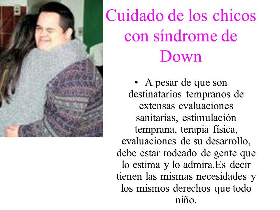 Cuidado de los chicos con síndrome de Down